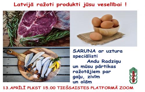 """Biedrība """"Latvijas Zemnieku federācija"""" aicina uz sarunu ciklu par Latvijas laukos ražotajiem pārtikas produktiem"""