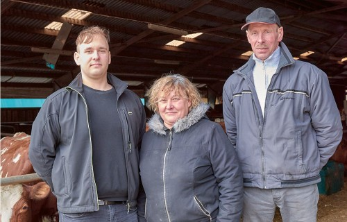 Zemnieku saimniecības Kaktiņi govis ražo augstas kvalitātes pienu